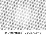 black and white dotted halftone ... | Shutterstock .eps vector #710871949