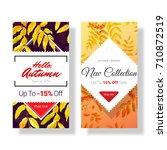 autumn sale discount...   Shutterstock . vector #710872519