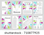 abstract vector layout... | Shutterstock .eps vector #710877925