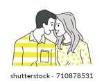 vector illustration character... | Shutterstock .eps vector #710878531