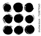 abstract round black ink... | Shutterstock .eps vector #710879365