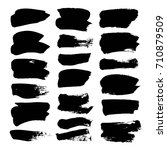 black vector brush strokes... | Shutterstock .eps vector #710879509