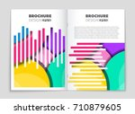 abstract vector layout... | Shutterstock .eps vector #710879605