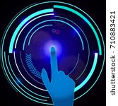 interface technology. abstract...   Shutterstock .eps vector #710883421