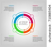 circle step infographic | Shutterstock .eps vector #710885404