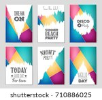 abstract vector layout... | Shutterstock .eps vector #710886025
