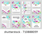 abstract vector layout... | Shutterstock .eps vector #710888059