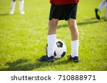 close up legs and feet of... | Shutterstock . vector #710888971