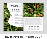 abstract vector layout... | Shutterstock .eps vector #710889307