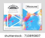 abstract vector layout... | Shutterstock .eps vector #710890807