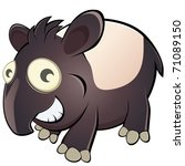 funny cartoon tapir | Shutterstock .eps vector #71089150