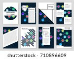 abstract vector layout... | Shutterstock .eps vector #710896609