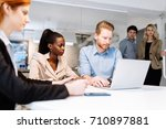 business people working in... | Shutterstock . vector #710897881
