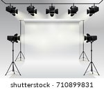 lighting equipment and... | Shutterstock .eps vector #710899831