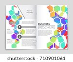 abstract vector layout... | Shutterstock .eps vector #710901061