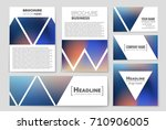 abstract vector layout... | Shutterstock .eps vector #710906005