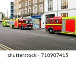 fire rescue and ambulance... | Shutterstock . vector #710907415