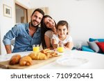 husband and wife with they... | Shutterstock . vector #710920441