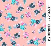 cute flower background pattern... | Shutterstock . vector #710923969
