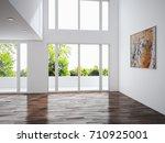 modern bright interiors. 3d... | Shutterstock . vector #710925001