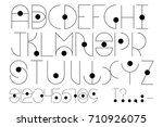 futuristic type with alphabet ... | Shutterstock .eps vector #710926075