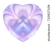 Abstract Crystal Violet Heart...