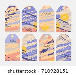hand drawn creative tags.... | Shutterstock .eps vector #710928151
