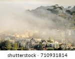 Landscape Of Cloud Covered City ...