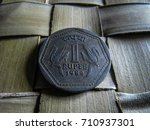 indian one rupees coin  1984 ... | Shutterstock . vector #710937301