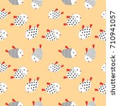 fish pattern vector... | Shutterstock .eps vector #710941057