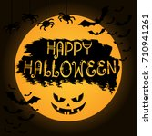halloween poster. invitation... | Shutterstock .eps vector #710941261