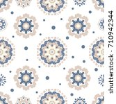 seamless tiling texture with... | Shutterstock . vector #710942344