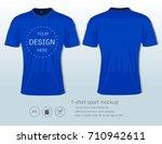 soccer jersey template for... | Shutterstock .eps vector #710942611
