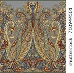 seamless paisley indian motif | Shutterstock . vector #710944501