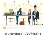 business characters in the... | Shutterstock .eps vector #710946541