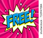 free   comic book style word on ... | Shutterstock .eps vector #710947084
