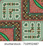 shawl design for printing on... | Shutterstock . vector #710952487