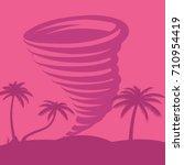 caribbean tornado against the... | Shutterstock .eps vector #710954419