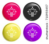 robot multi color glossy badge...