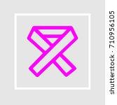 breast cancer ribbon vector... | Shutterstock .eps vector #710956105