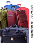 Luggage consisting of large suitcases and travel bag - stock photo