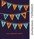 halloween night party. template ... | Shutterstock .eps vector #710960635