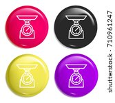 libra multi color glossy badge...