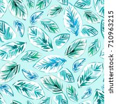 seamless  modern tropical palm... | Shutterstock . vector #710963215