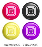 instagram multi color glossy... | Shutterstock .eps vector #710964631