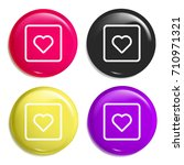 heart multi color glossy badge...