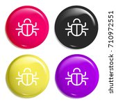 bug multi color glossy badge...