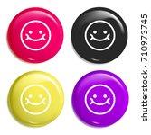 smile multi color glossy badge...