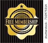 free membership shiny badge | Shutterstock .eps vector #710975314
