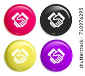 deal multi color glossy badge...